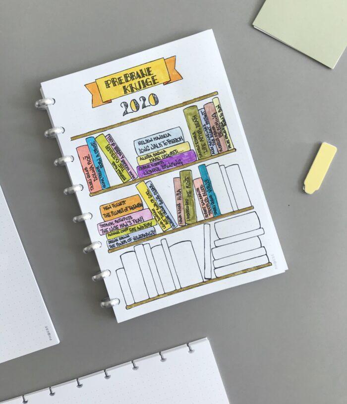 BuJo planiranje - zbirka prebranih knjig
